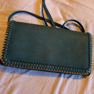 Blue Small Accordion Crossbody